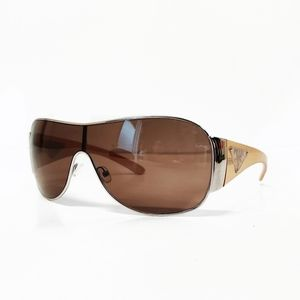 Prada Milano Aviator Style Sunglasses Beige Brown